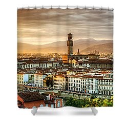 Sunset In Florence Shower Curtain