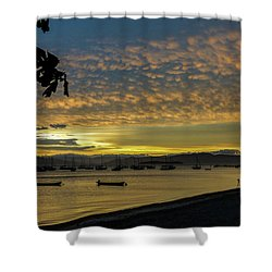 Sunset In Florianopolis Shower Curtain