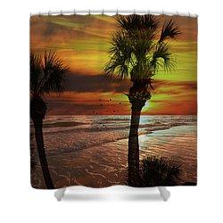 Sunset In Florida Shower Curtain