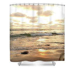 Sunset In Golden Tones Torrey Pines Natural Preserves #2 Shower Curtain