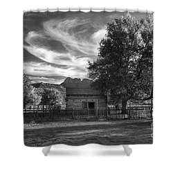 Sunset In Grafton Ghost Town Shower Curtain by Sandra Bronstein
