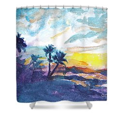 Sunset In Hawaii Shower Curtain