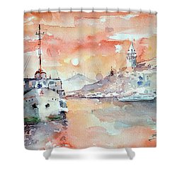 Sunset In Istanbul... Shower Curtain