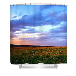 Sunset In Ithaca South Hill Shower Curtain by Paul Ge