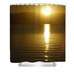Sunset In January Shower Curtain