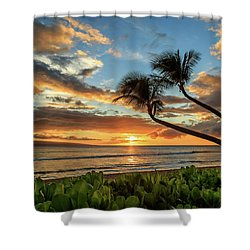 Shower Curtain featuring the photograph Sunset In Kaanapali by James Eddy