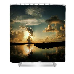 Sunset In Lacombe, La Shower Curtain