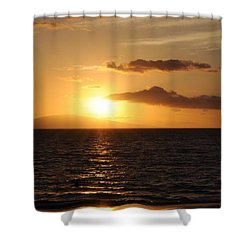 Sunset In Maui Shower Curtain