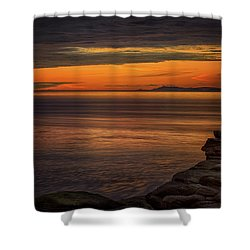 Sunset In May Shower Curtain by Randy Hall