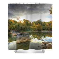Shower Curtain featuring the digital art Sunset In Murphy by Sharon Batdorf