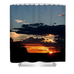Shower Curtain featuring the photograph Sunset In Oil Santa Fe New Mexico by Diana Mary Sharpton