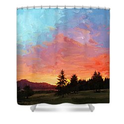 Sunset In Oregon Shower Curtain