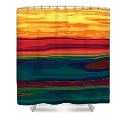 Sunset In Ottawa Valley Shower Curtain