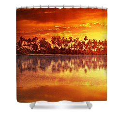 Sunset In Paradise Shower Curtain by Gabriella Weninger - David