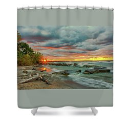 Sunset In Rocky River, Ohio Shower Curtain