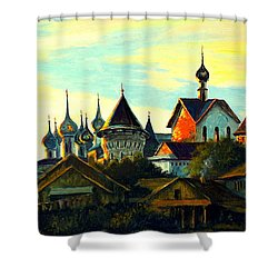 Sunset In Rostov Shower Curtain