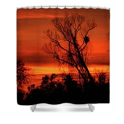 Sunset In Sacramento Shower Curtain