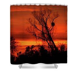 Sunset In Sacramento Shower Curtain