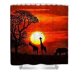 Sunset In Savannah Shower Curtain