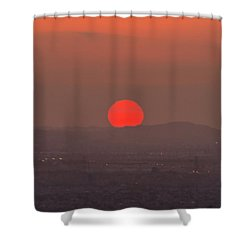 Sunset In Smog Shower Curtain