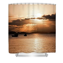 Sunset In Southern Brazil Shower Curtain