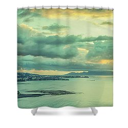 Shower Curtain featuring the photograph Sunset In Tahiti by Gary Slawsky