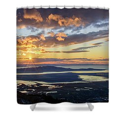 Shower Curtain featuring the photograph Sunset In The Desert by Bryan Carter