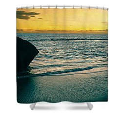 Sunset In Tenerife Shower Curtain by Loriental Photography