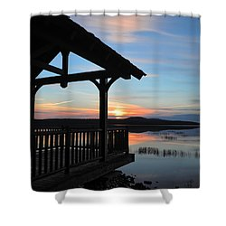 Sunset In The Adirondacks Shower Curtain