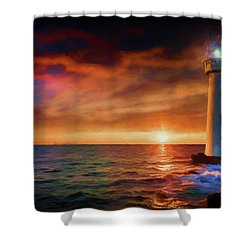 Sunset In The Bay Shower Curtain