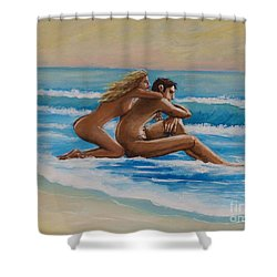 Sunset In The Beach Shower Curtain