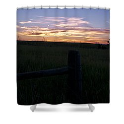 Shower Curtain featuring the photograph Sunset In The Black Hills by Deborah Klubertanz