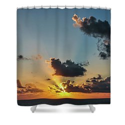 Sunset In The Caribbean Sea Shower Curtain