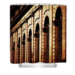 Shower Curtain featuring the photograph Sunset In The City by Baggieoldboy