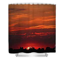 Sunset In The City Shower Curtain by Mariola Bitner