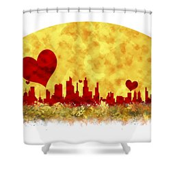 Sunset In The City Of Love Shower Curtain