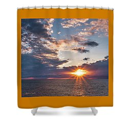 Sunset In The Clouds Shower Curtain
