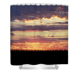 Sunset In The Corn Shower Curtain