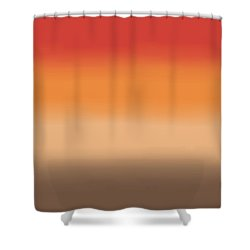 Sunset In The Desert - Sq Block Shower Curtain