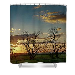 Sunset In The Fields Of Binyamina Shower Curtain