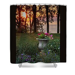 Sunset In The Flowers Shower Curtain