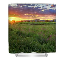 Shower Curtain featuring the photograph Sunset In The Hills 2017 by Bill Wakeley