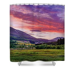 Shower Curtain featuring the photograph Sunset In The Meadow by Dmytro Korol