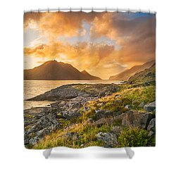 Sunset In The North Shower Curtain by Maciej Markiewicz
