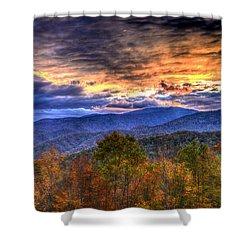Sunset In The Smokies Shower Curtain