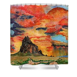 Sunset In The West Shower Curtain