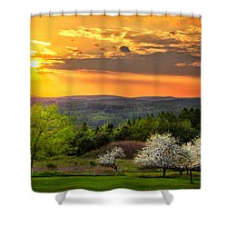 Sunset In Tioga County Pa Shower Curtain