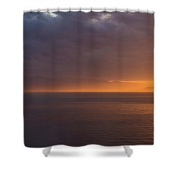 Shower Curtain featuring the photograph Sunset In Tracey Arm by Brenda Jacobs