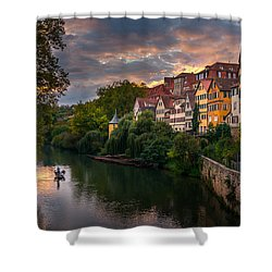 Shower Curtain featuring the photograph Sunset In Tubingen by Dmytro Korol