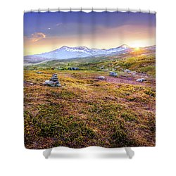 Shower Curtain featuring the photograph Sunset In Tundra by Dmytro Korol